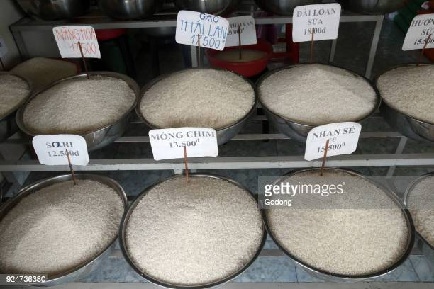 Various types of rice for sale Thay Ninh Vietnam