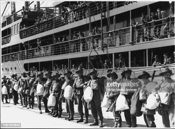 Various unions of AIF troops Embark at Pyrmont mid 1940 May 04 1940