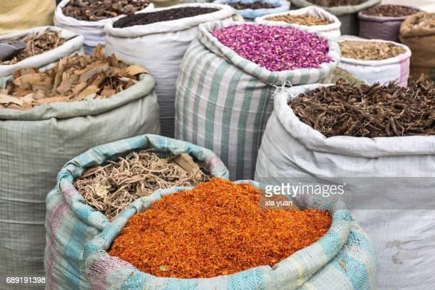 Various Uygur medical herbs for sale