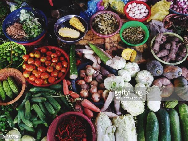 various vegetables for sale at market stall - hertz stock pictures, royalty-free photos & images