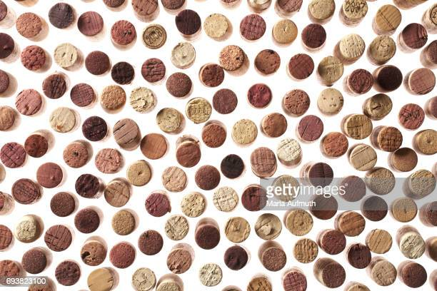 Various wine corks from above