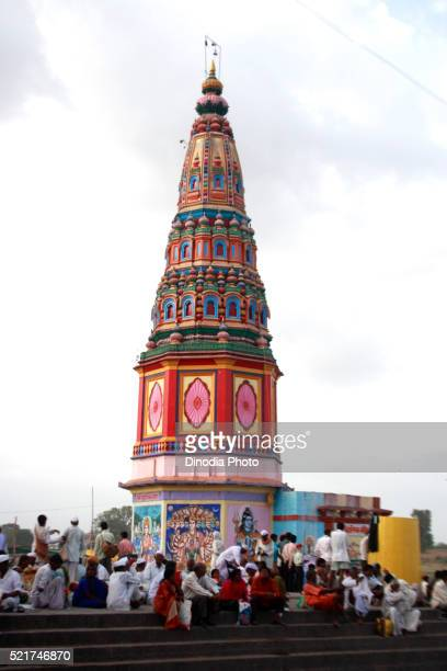 Varkari gathered at Pundlik temple on occasion of Ashadhi Ekadashi at Pandharpur town, Solapur, Maharashtra