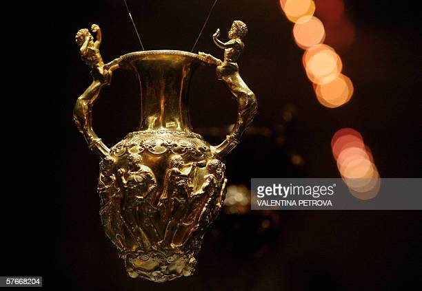 TO GO WITH AFP STORY Amphora rhyton part of Thracian Panagyurishte Treasure dated 4th century BC which possibly belonged to the Thracian king Sewth...