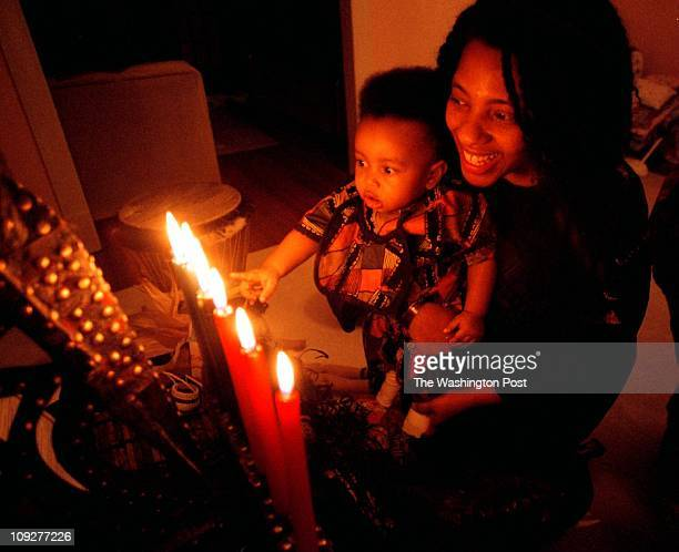 Varnum St NW DC For the Weekly Christmas edition we visit one local AfricanAmerican family to see their Kwanzaa preparations Pictured 9monthold Ajani...