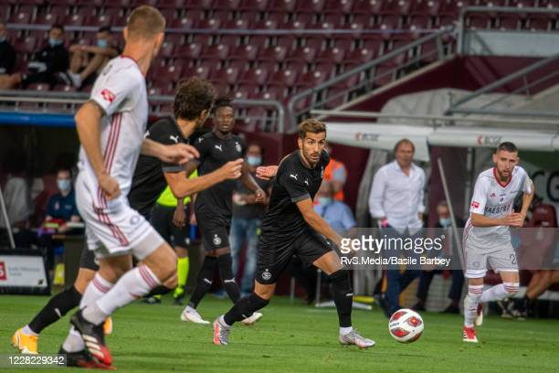 Varol Tasar of Servette FC in action during the UEFA Europa League qualification match between Servette FC and MFK Ruzomberok at Stade de Geneve on...