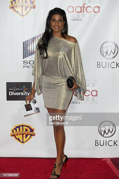 Varshani appears on the red carpet for the 2nd Annual AAFCA Awards on December 13 2010 in Los Angeles California