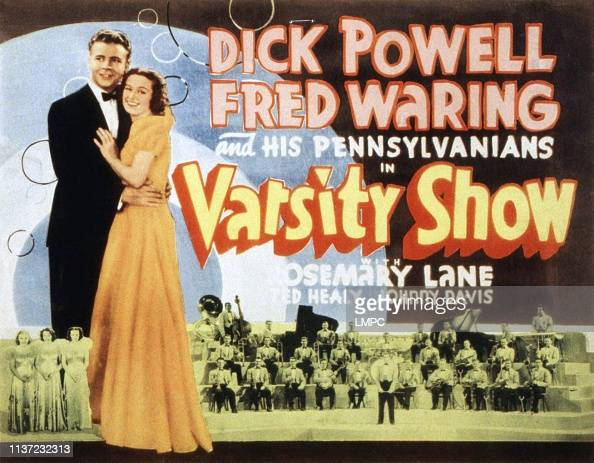 Varsity Show, poster, Dick Powell, Rosemary Lane, Fred Waring ...