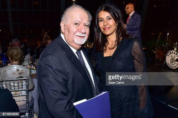 Vartan Gregorian and Naznin Khimji attend The Aga Khan Foundation Gala at The Metropolitan Museum of Art on November 15 2017 in New York City