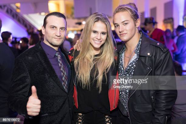 Vartan Vartanyan Sydney Siegel and Mitchell Hoog attend the Rio Vista Universal's Valkyrie Awards and Holiday Party on December 16 2017 in Los...