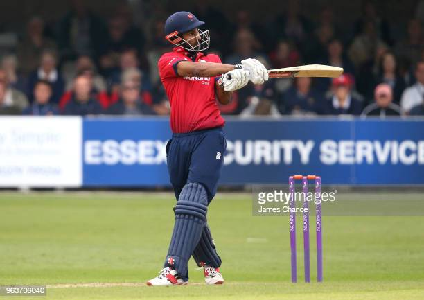 Varun Chopra of Essex bats during the Royal London OneDay Cup match between Essex and Glamorgan at The Essex County Ground on May 30 2018 in...