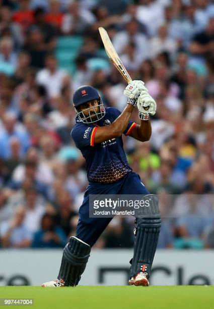 Varun Chopra of Essex bats during the Vitality Blast match between Surrey and Essex Eagles at The Kia Oval on July 12 2018 in London England