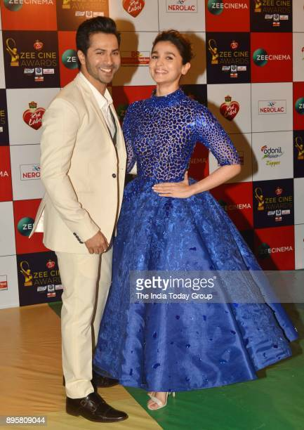 Varun Dhawan and Alia Bhatt attends Zee Cine Awards 2018 held at MMRDA Grounds in Mumbai
