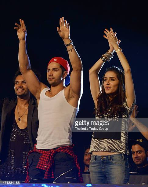 Varun Dhawan and Shraddha Kapoor attending a dance completion and promoting their upcoming movie of ABCD2 in Mumbai