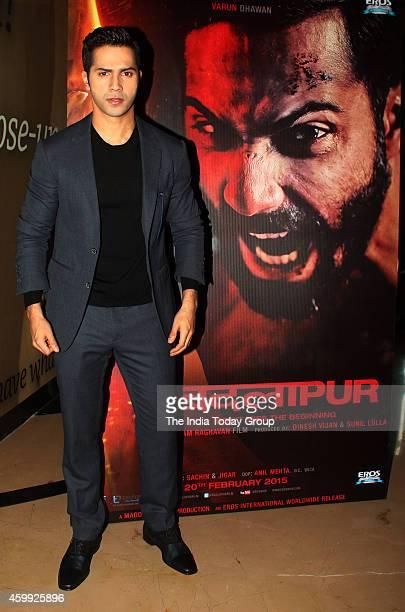 Varun Dhawan at the teaser launch of their movie Badlapur