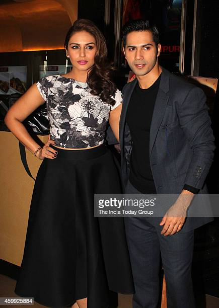 Varun Dhawan Huma Qreshi at the teaser launch of their movie Badlapur