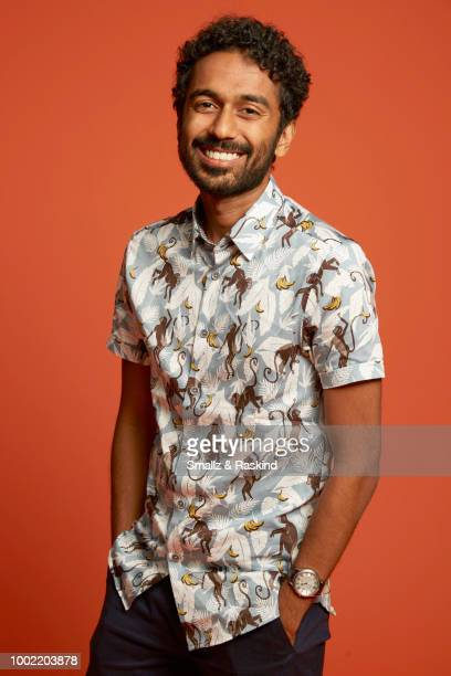Varun Saranga from Syfy's 'Wynonna Earp' poses for a portrait in the Getty Images Portrait Studio powered by Pizza Hut at San Diego 2018 Comic Con at...