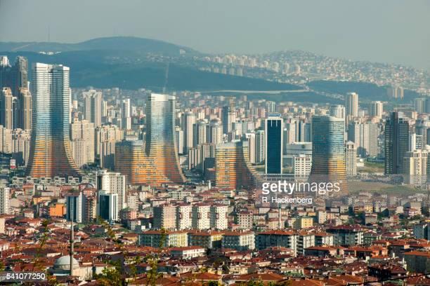 varyap meridian grand tower - contemporary istanbul foto e immagini stock