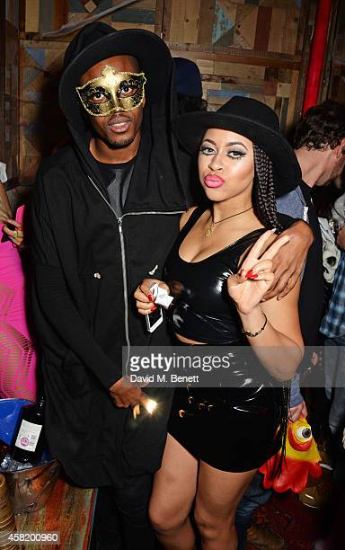 Vas J Morgan and Amira McCarthy attends 'Death Of A Geisha' hosted by Fran Cutler and Cafe KaiZen with Grey Goose on October 31 2014 in London England