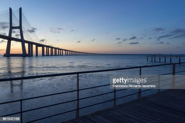 Vasco Da Gama Bridge at sunrise, Lisbon