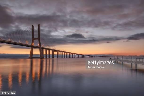 Vasco da Gama bridge, Lisbon, Portugal, Europe