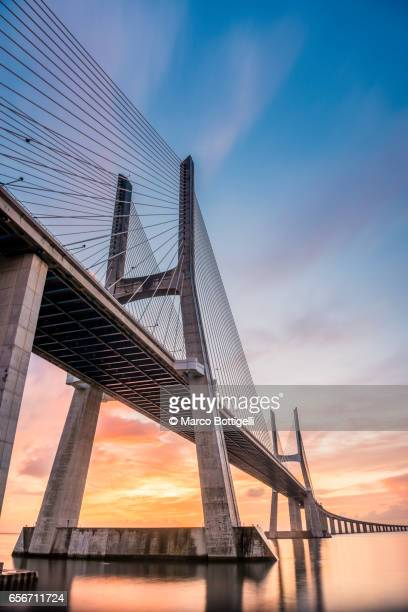 Vasco Da Gama bridge. Lisbon, Portugal.