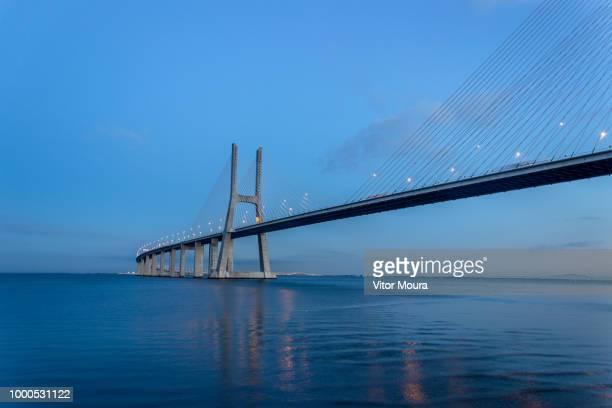 vasco da gama bridge - moura stock photos and pictures