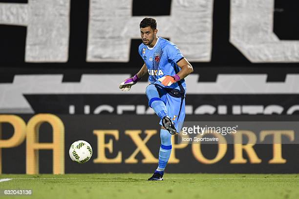 ab2b8ecfaa Vasco da Gama goalkeeper Martín Andrés Silva Leites plays the ball during  the first half of