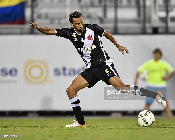 Vasco da Gama midfielder Anderson Luis de Carvalho drags the ball during the second half of the Florida Cup Semifinal match between Vasco da Gama and...