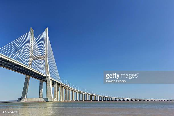 vasco de gama bridge - suspension bridge stock photos and pictures