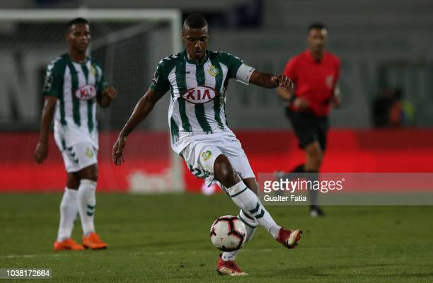 Vasco Fernandes of Vitoria FC in action during the Liga NOS match between Vitoria FC and FC Porto at Estadio do Bonfim on September 22 2018 in...