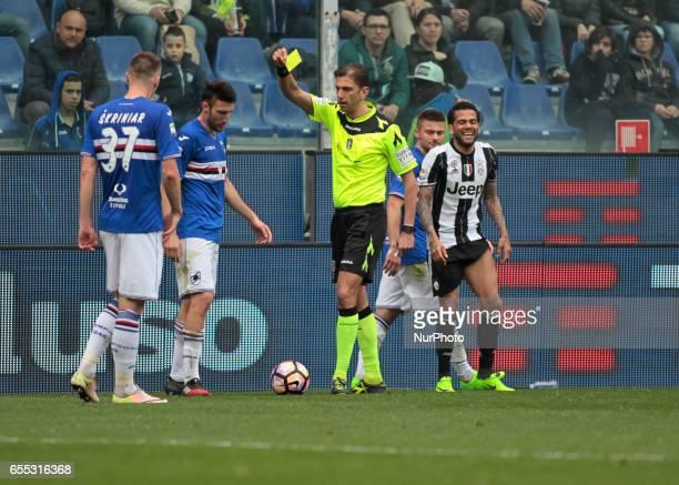 Vasco Regini during Serie A match between Sampdoria v Juventus at Stadio Luigi Ferraris on March 19 2017 in Genoa Italy