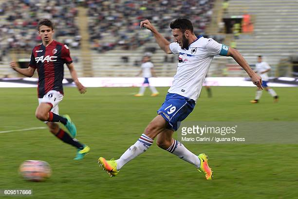 Vasco Regini of UC Sampdoria in action during the Serie A match between Bologna FC and UC Sampdoria at Stadio Renato Dall'Ara on September 21 2016 in...