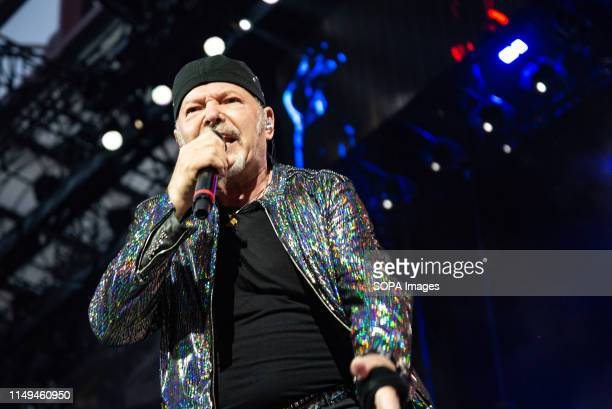Vasco Rossi performs live on stage at San Siro Stadium during his non stop live music 2019 in Milano