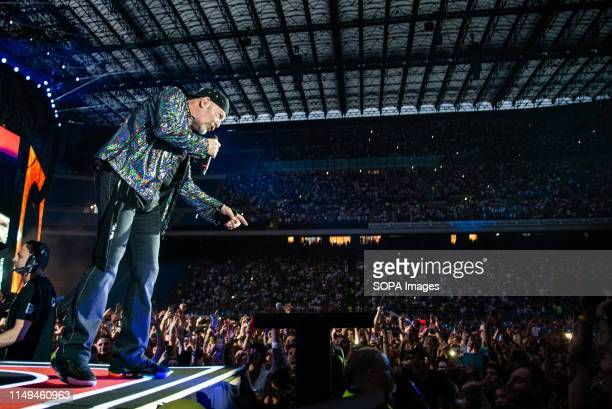 Vasco Rossi performs live on stage at San Siro Stadium during his non stop live music 2019 in Milano.