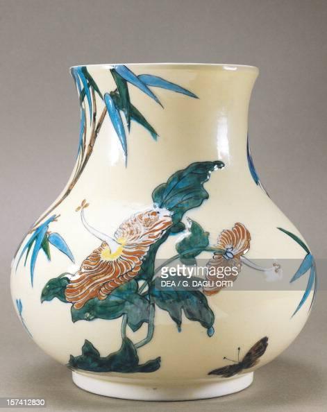 decorated birds flowers vase