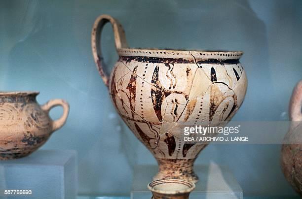 Vase from the Palace of Nestor Pylos Messinia Greece Mycenaean civilisation Chora Museo Archeologico Di Chora Triphyllias