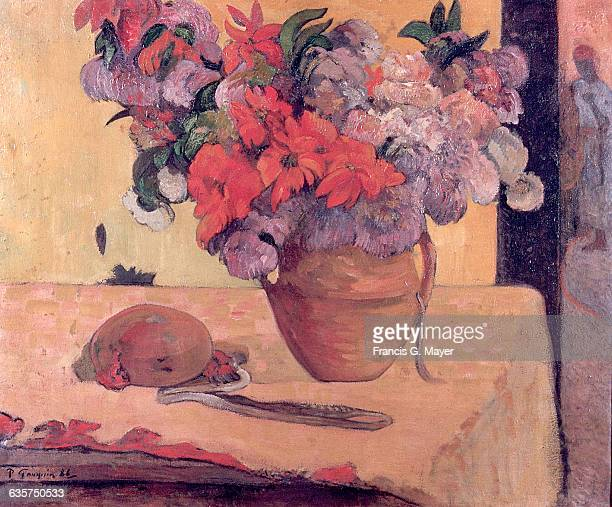 Vase of Flowers and Fruit by Paul Gauguin