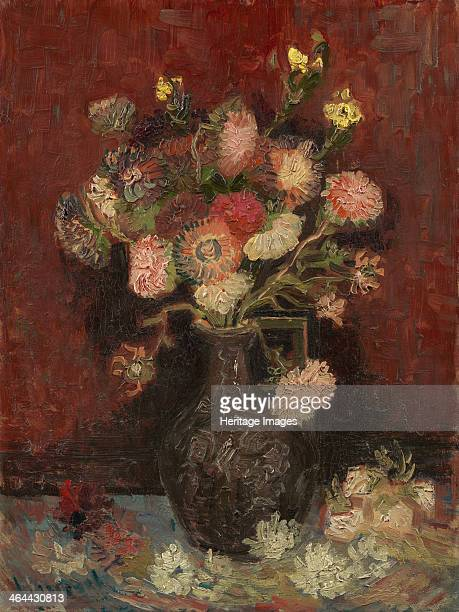 Vase with Chinese asters and gladioli 1886 Found in the collection of the Van Gogh Museum Amsterdam