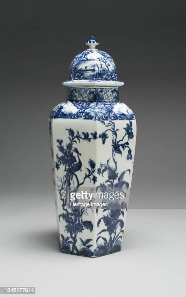 Vase with Cover , Worcester, circa 1760. Artist Royal Worcester.