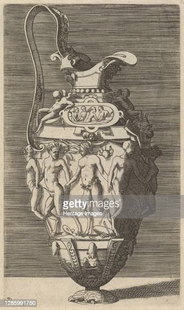 Vase with Dancing Women and Satyrs, 17th century . Artist Rene Boyvin.
