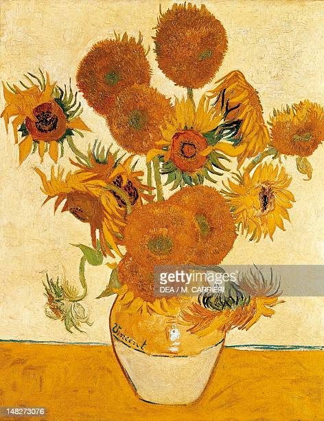 Vase with fifteen Sunflowers by Vincent van Gogh oil on canvas 93x73 cm London National Gallery