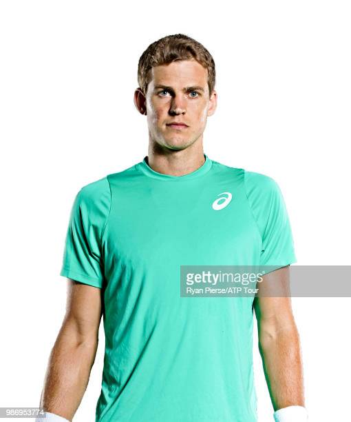 Vasek Pospisil of Canada poses for portraits during the Australian Open at Melbourne Park on January 11 2018 in Melbourne Australia
