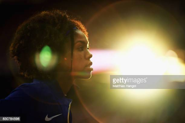 Vashti Cunningham of the United States competes in the Women's High Jump final during day nine of the 16th IAAF World Athletics Championships London...