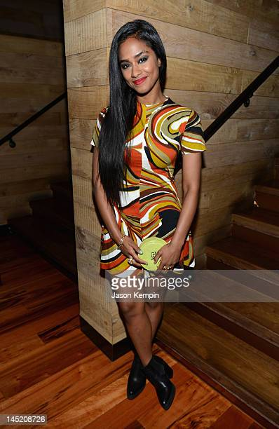 Vashtie attends Hotel Noir an exclusive launch event for GREY GOOSE Cherry Noir hosted by Kelly Rowland at Gansevoort Park Avenue on May 23 2012 in...