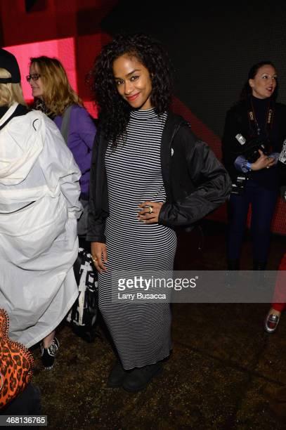 Vashtie Kola attends the DKNY Women's fashion show during MercedesBenz Fashion Week Fall 2014 on February 9 2014 in New York City