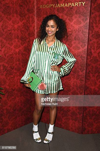 Vashtie Kola attends the Dolce Gabbana pyjama party at 5th Avenue Boutique on March 15 2016 in New York City