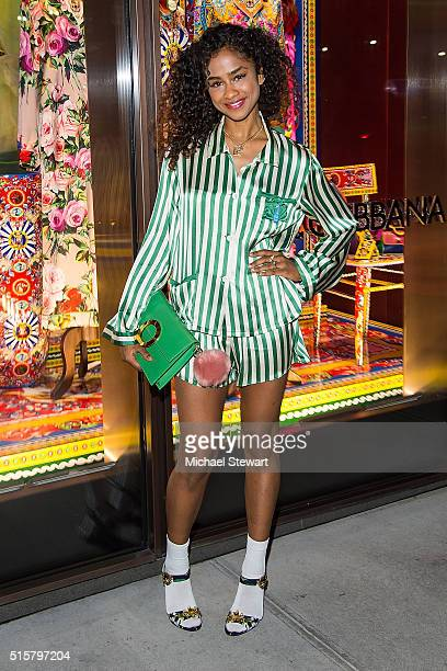 Vashtie Kola attends the Dolce Gabbana Pyjama Party at Dolce Gabbana on March 15 2016 in New York City