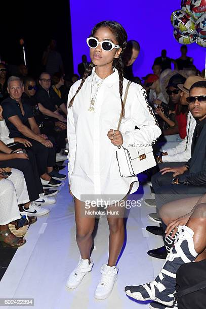 Vashtie Kola attends the Hood By Air fashion show during New York Fashion Week The Shows at The Arc Skylight at Moynihan Station on September 11 2016...