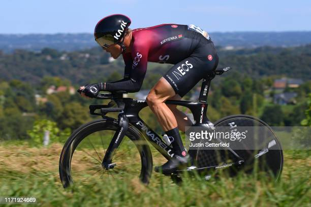 Vasil Kiryienka of Belarus and Team Ineos / during the 74th Tour of Spain 2019, Stage 10 a 36,2 Individual Time Trial stage from Jurançon to Pau /...