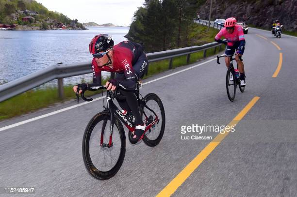 Vasil Kiryienka of Belarus and Team INEOS / Sep Vanmarcke of Belgium and Team EF Education First / during the 9th Tour of Norway 2019, Stage 2 a...